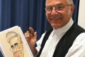Caricaturista LEONARDO da vinci jr. Caricaturiste Karikaturist Schnellzeichner