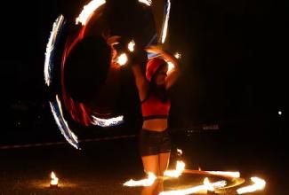 Hula Hoop - Feuershow
