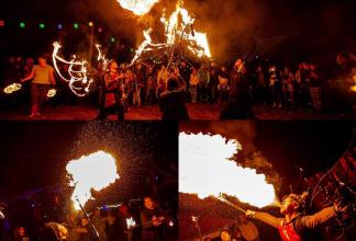 Feuer und Lichtshow der anderen Art