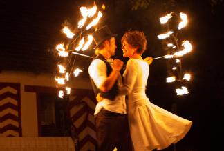 poetische Feuershow