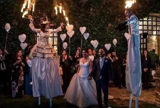 Accoglienza Trampolieri Matrimonio