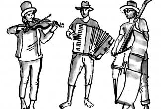 Strello - Gipsy Folk Trio (Akkordeon/Geige/Kontrabass+Gesang)